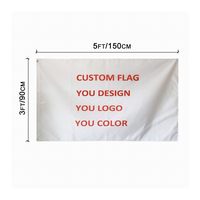 Highest Quality Factory 100D polyester Digital Printing banner Single Double Sided Custom Flag 3x5FT