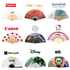 Fan Printed Printed Fans Promotional Souvenir Pp Plastic Hand Fan With Logo Printed