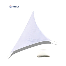 Maison jardin utilise 160gsm imperméable blanc polyester <span class=keywords><strong>voiles</strong></span> solaires en plein air