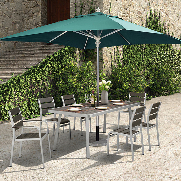 Aluminium Garden Dinning Table Chair