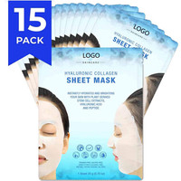Private Label Organic Deep Moisturizing Hyaluronic Acid Collagen Facial Face Mask Sheet