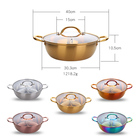 Kitchen Cookware Sets Stainless Steel Electric Divided Hot Pot