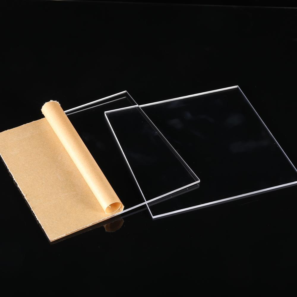 Acrylique transparent perspex feuille custom coupe pour taille de panneaux en plastique panneau 2mm