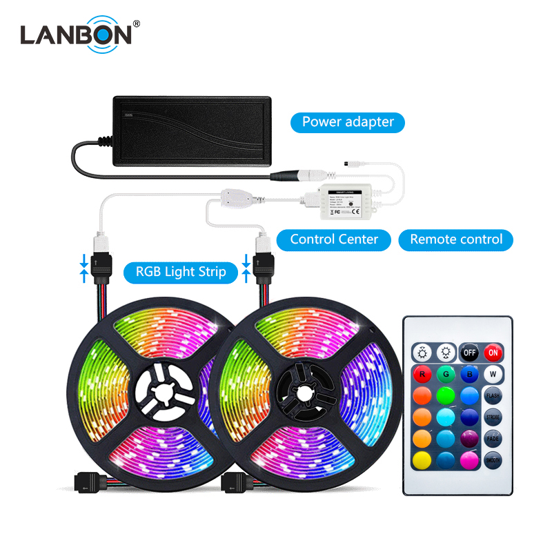 new arrival RGB strip light 5m smart wifi mesh strip work with amazon alex google home and apple kit remote control light strip
