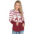 New Fashion Stripes and Reindeer Print Pullover Hooded Women Sweatshirt