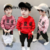 Children's Foreign Style Girls'Clothes Spring Dresses Girls' Suits Fashionable Spring and Autumn Infant Boom