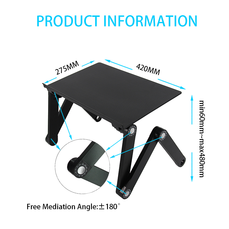 Multifunctional portable folding bed foldable laptop table desk