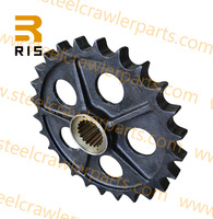 Quality idler and sprocket for Kobelco P&H7055 crawler crane undercarriage parts
