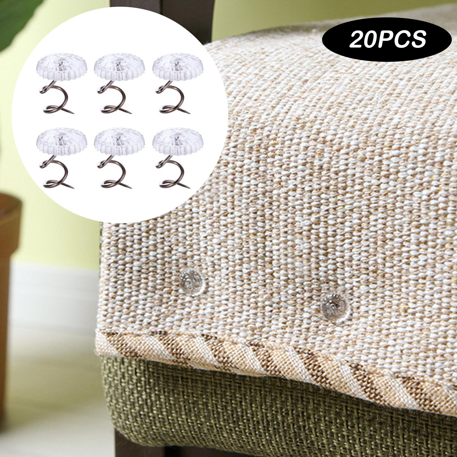 Behogar 20pcs Twisty Pins Couch Slip Cover Fasteners With Clear Heads For Upholstery Slipcovers Bedskirts Sofa Armrest Covers Clothes Pegs Aliexpress