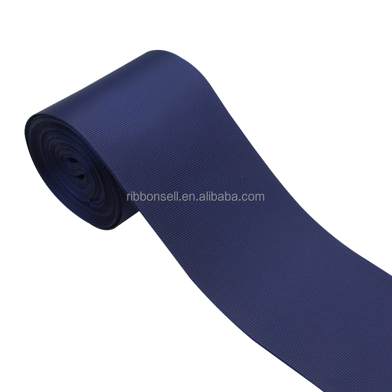 Wholesale 3 inch Width High Quality Solid Grosgrain Roll Ribbon For Packing Bows