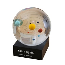 YearsCrystal Geschenke Souvenirs <span class=keywords><strong>Glas</strong></span> 3D planeten kristall ball solar <span class=keywords><strong>kugel</strong></span>