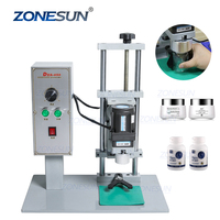 ZONESUN DDX-450 Pump Manual Semi Automatic Bottle Glass Bottle Ropp Capping Sealing Making Plastic Bottle Machines