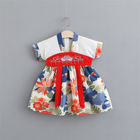Wholesale Korean Kids Clothing Stylish Party Wear Latest Baby Girl Dresses With Hanbok Photo