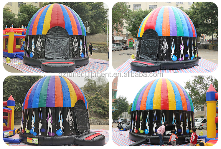 High quality inflatable disco bouncy castle bounce house jumping disco dome for sale