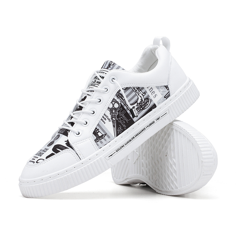 Lace-up Chic Modern Classic School Low Top Men Pu Skate Shoes