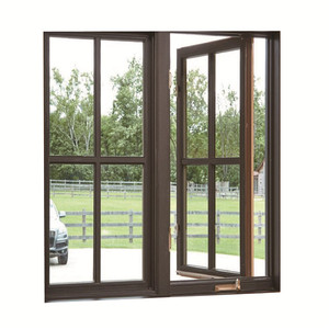 Topwindow American Aluminium Casement Windows Foldable Crank Handle Aluminum Clad Solid Oak Wood Window