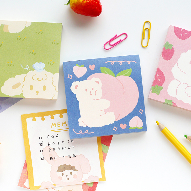 Custom Adhesive Write Printed Cute Funny 3*3 inches Square Memo Pad