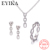 Italian style 925 sterling silver 5A quality cubic zirconia earrings twist  pendant necklace minimalist silver jewelry set