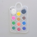 12 colors Watercolor Paint Set Portable Travel Water Color Paint Set With Water Brushes