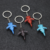 New Creative Metal Aircraft Model Key Chain Civil Airplane Car Advertising Waist Keychain