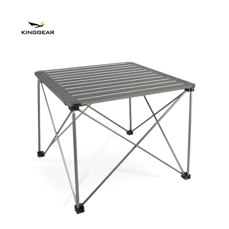 आउटडोर मध्यम बड़ा आकार मजबूत एल्यूमिनियम फ्रेम हल्के स्थिर पोर्टेबल डेरा डाले हुए मेज