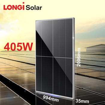 LONGI solar panel photovoltaic overlap 405w 400W mono solar panel price