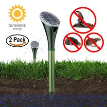 Amazon 2 Pacchetto di Vibrazione Solar Powered Snake Mole Repeller Animale Gopher e Arvicola Chaser Repellente Per Le Zanzare