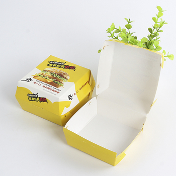 Wholesale Disposable Biodegradable bagasse hamburger food container box paper bento lunch box