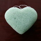 Love 2020 Cleaning Facial Natural Love Heart Shape Face Washing Konjac Charcoal Sponge For Face Care