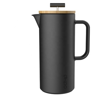 DHPO New Arrival Ceramic Large French Press Coffee Maker with Bamboo Lid and SLS Plunger