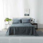 Custom cheap Solid Color Friendly home Brushed fabric bedding sheet set of four sets