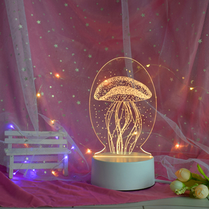 customize 3d acrylic night light Christmas gift light creative color control bedroom living room led illusion lamp