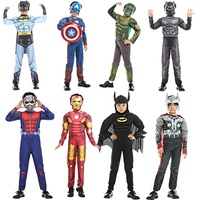Wholesale Custom Halloween Party Superhero Spiderman Boys Costumes For Kids