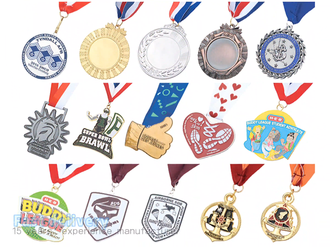 Factory Direct Promotional Custom Blank Logo Fun Run Premium Sport Trophy Sport Medals