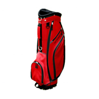 Custom Red and Black Color Polyester Material Golf Cart Bag Waterproof