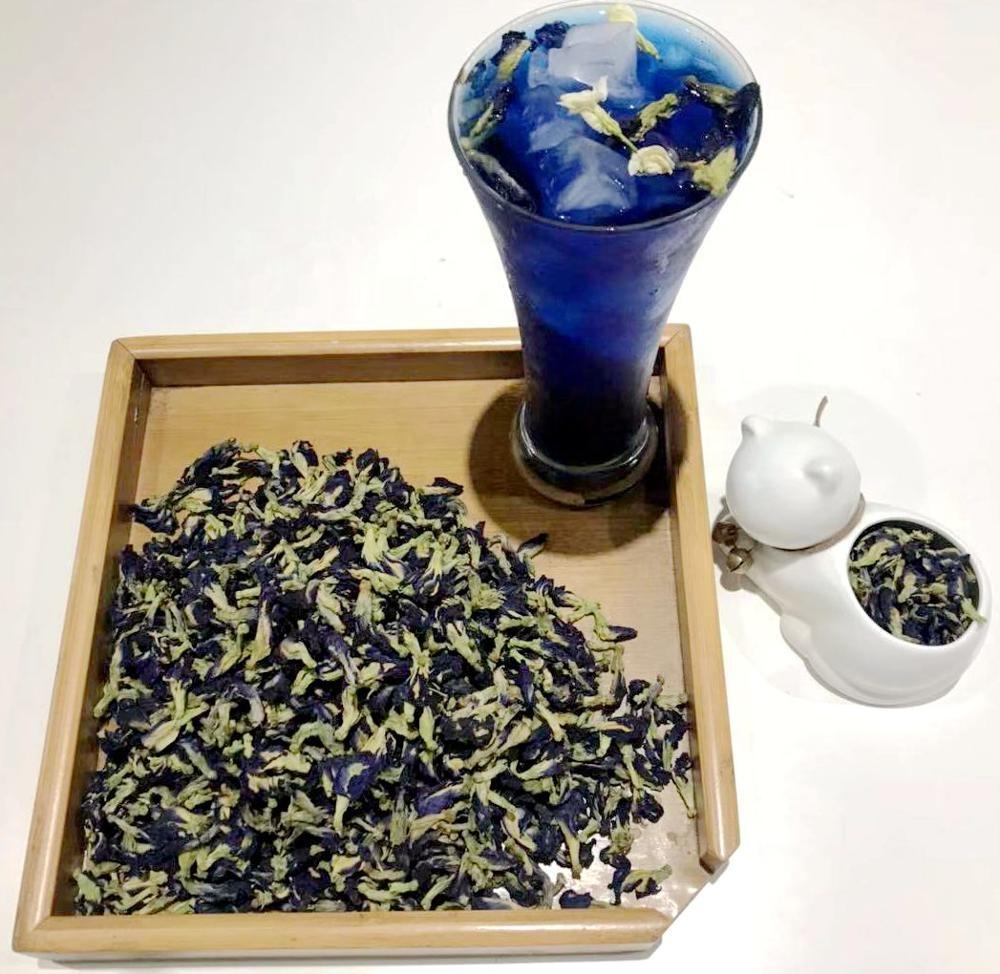 ZSL-HT-013 Free Samples Die Dou Hua New Fresh Dried Violet Butterfly Pea Blue Tea - 4uTea | 4uTea.com