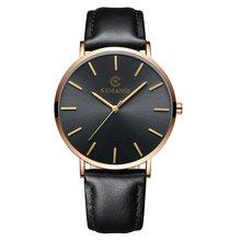Мужские кварцевые деловые часы Hodinky, мужские наручные часы с большим циферблатом и кожаным ремешком, Мужские Простые роскошные часы Ceasuri ...(Китай)