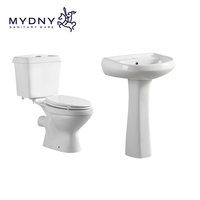 chaozhou sanitary ware cheap Africa Wc P-trap Nigeria twyford toilet two piece ceramic toilet bowl bathroom toilet set