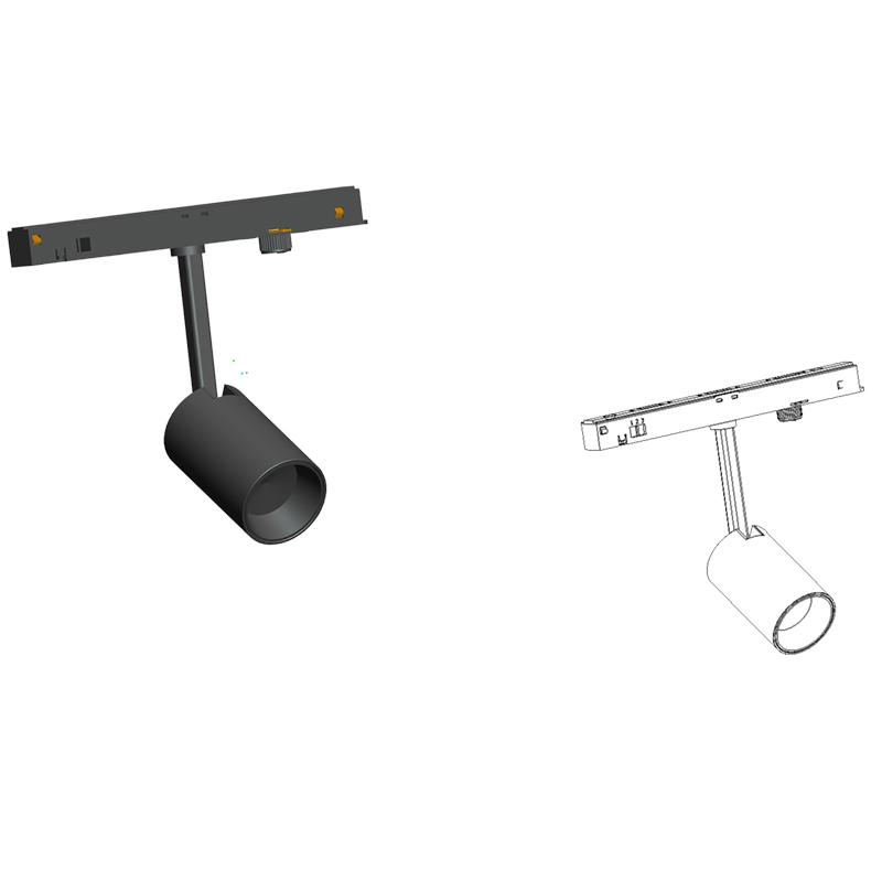 Led lamp discount price magnetic ceiling dmx led track strip led track light