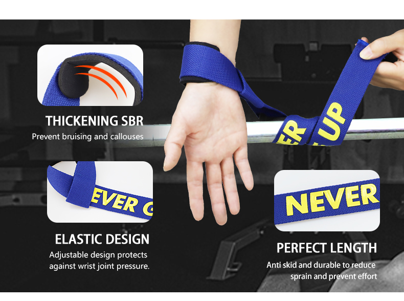 Professional Fitness Wrist Brace Sport Gym Weight Lifting Custom Wrist Straps