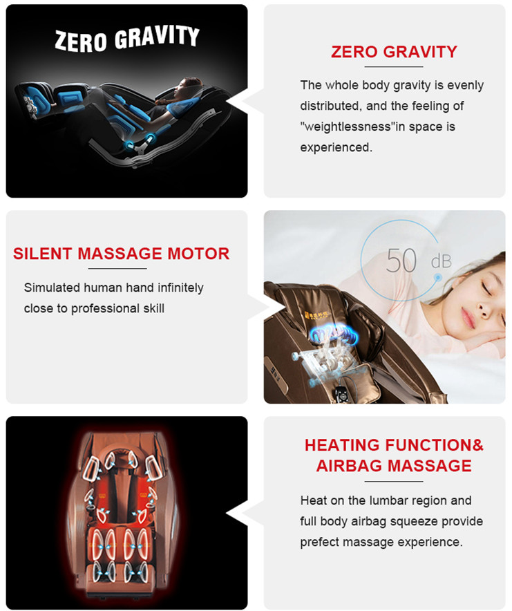 L track easy type electric endure hypnotherapy portable blood circulation Massage Chair