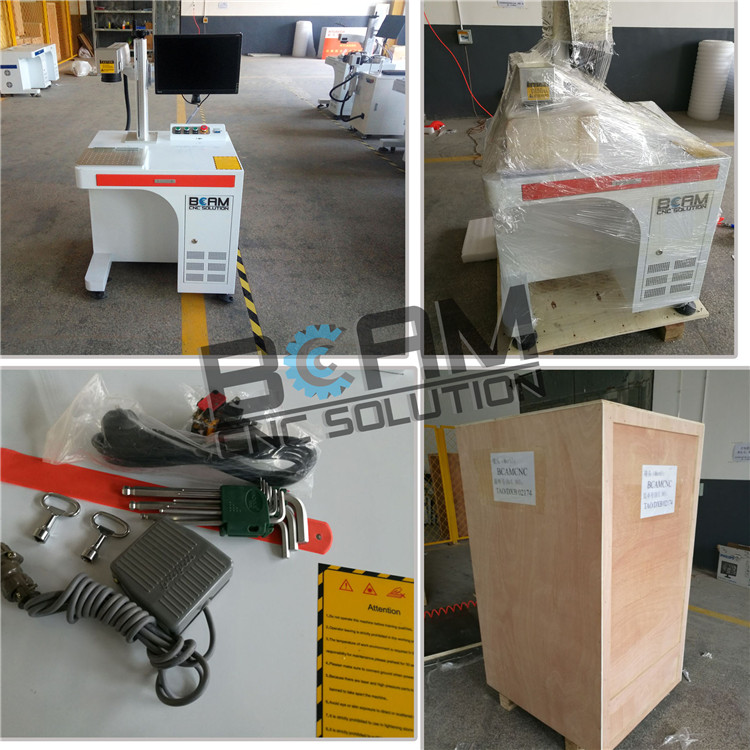 Fast working speed metal fiber laser engraving machine for sign making nameplate