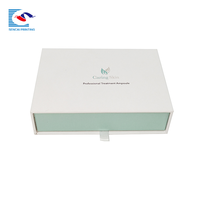 High quality custom logo jewelry necklace drawer paper box with foam inside