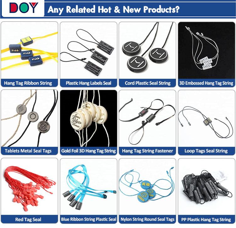 Kleidungsstück Dichtung Tags Maker Nach 3D Geprägte Marke Name Logo Kunststoff Hängen Tags String Schlösser für Schuhe