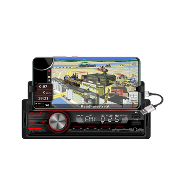 Fixed panel dual FM USB SD MMC custom card player Car mp3 player with Bluetooth and LCD display