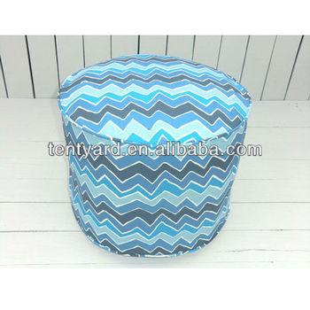 Tremendous Round Blue Chevron Modern Zigzag Floor Ottoman Cotton Pouf Buy Ottoman Pouf Modern Ottoman Outdoor Pouf Product On Alibaba Com Machost Co Dining Chair Design Ideas Machostcouk