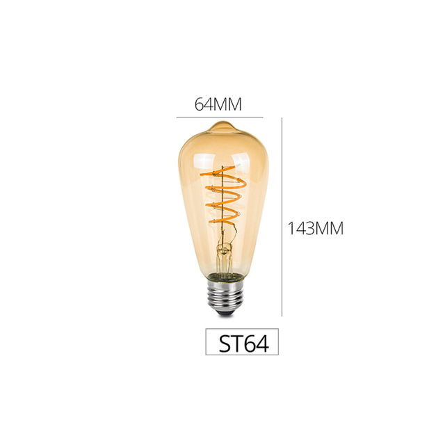 ST64 dimmbare filament led chip lampe moderne lampadine led retro Lampe Hause dekoration lampe