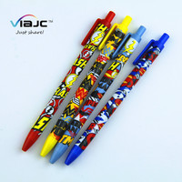 cheap promotional abs plastic cartoon coloring ball point pens for kids