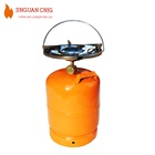 Factory Supply PROPANE BUTANE 5KG LPG GAS CYLINDER, PORTABLE Empty LPG Cylinder GAS Cylinder With Byrner Head for Camping