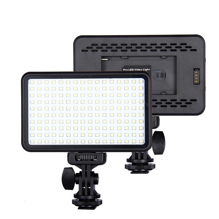 OEM 160 LED Nhiếp Ảnh LED Điền Video Ánh Sáng Ánh Sáng Thay Đổi Độ Sáng Điền Vào Ánh Sáng Với Máy Ảnh Núi Màu Kép Nhiệt Độ